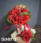 WE0005 passion RED bouquet